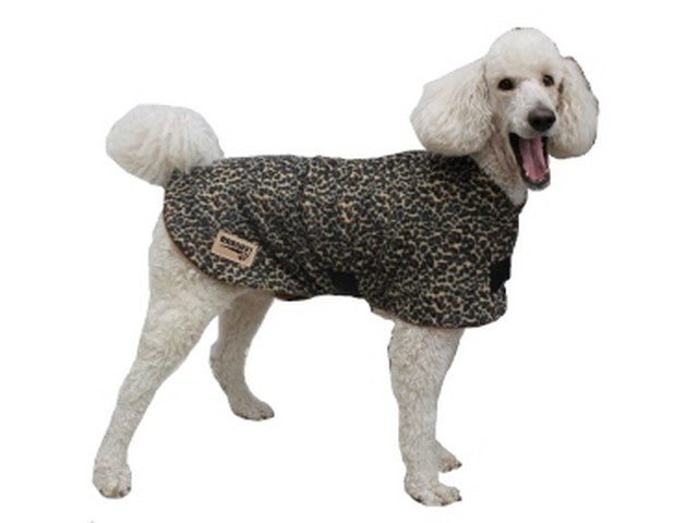 Polar Fleece Dog Coat - Leopard Print