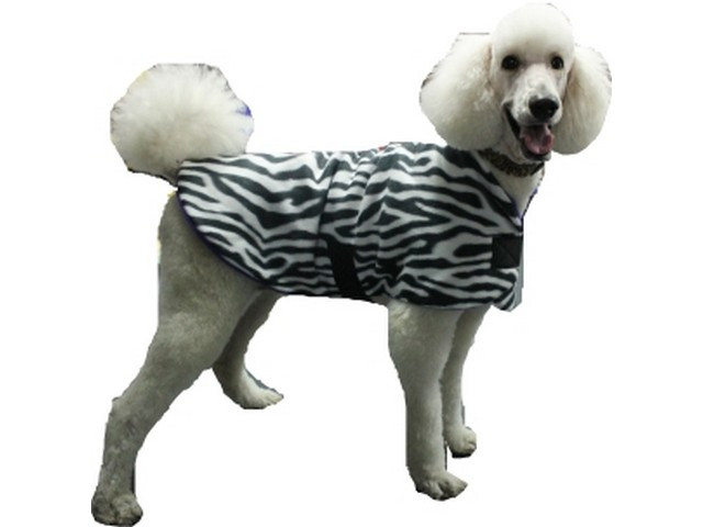 Polar Fleece Dog Coat – Zebra Print