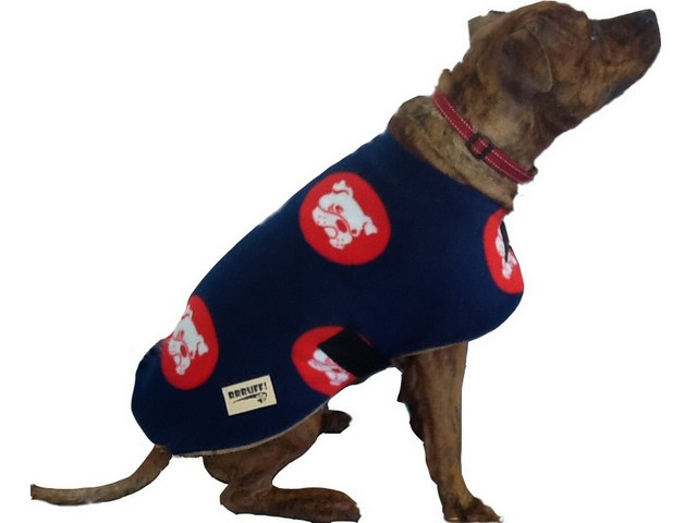Polar Fleece Dog Coat - Bull Dog Print