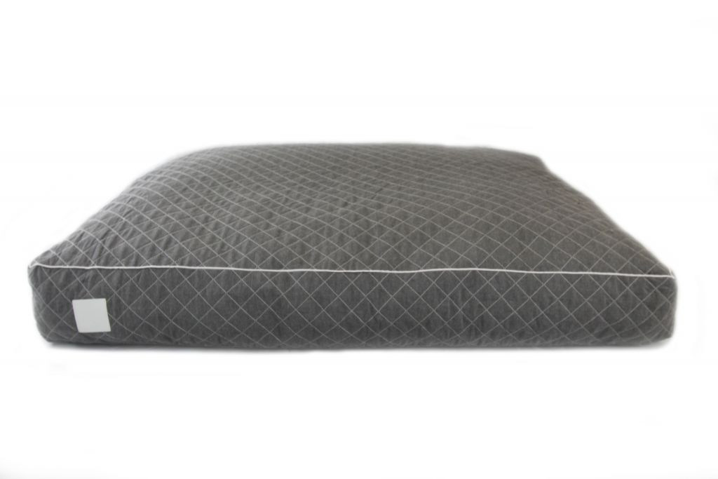 Floor Cushion Quilted Grey